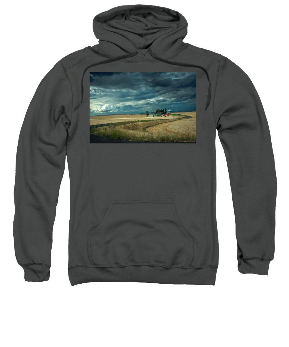 Farm Sweatshirt featuring the photograph Serious Working Farm by Randall Branham