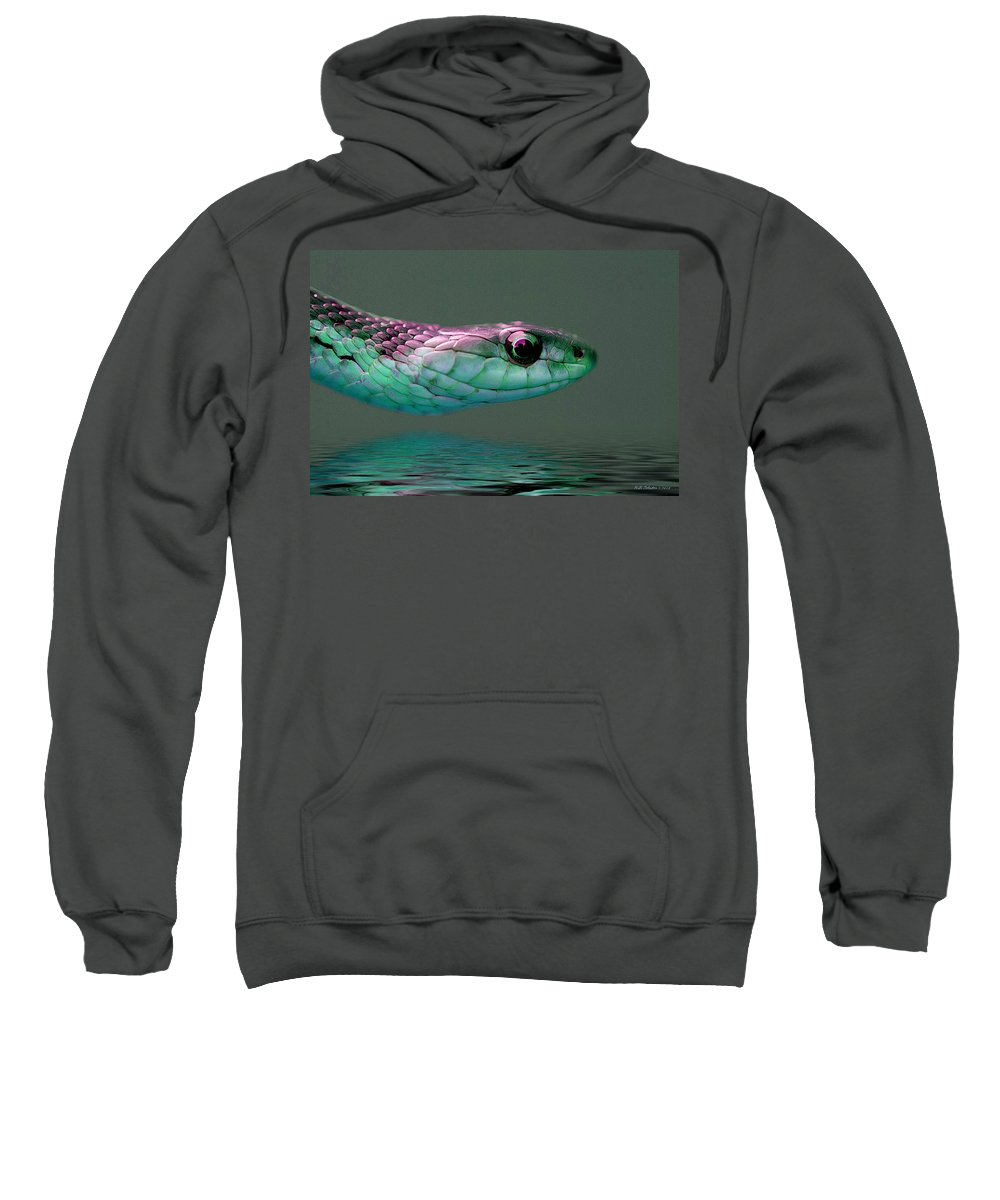 Snake Sweatshirt featuring the photograph Serpent Profile 2 by WB Johnston