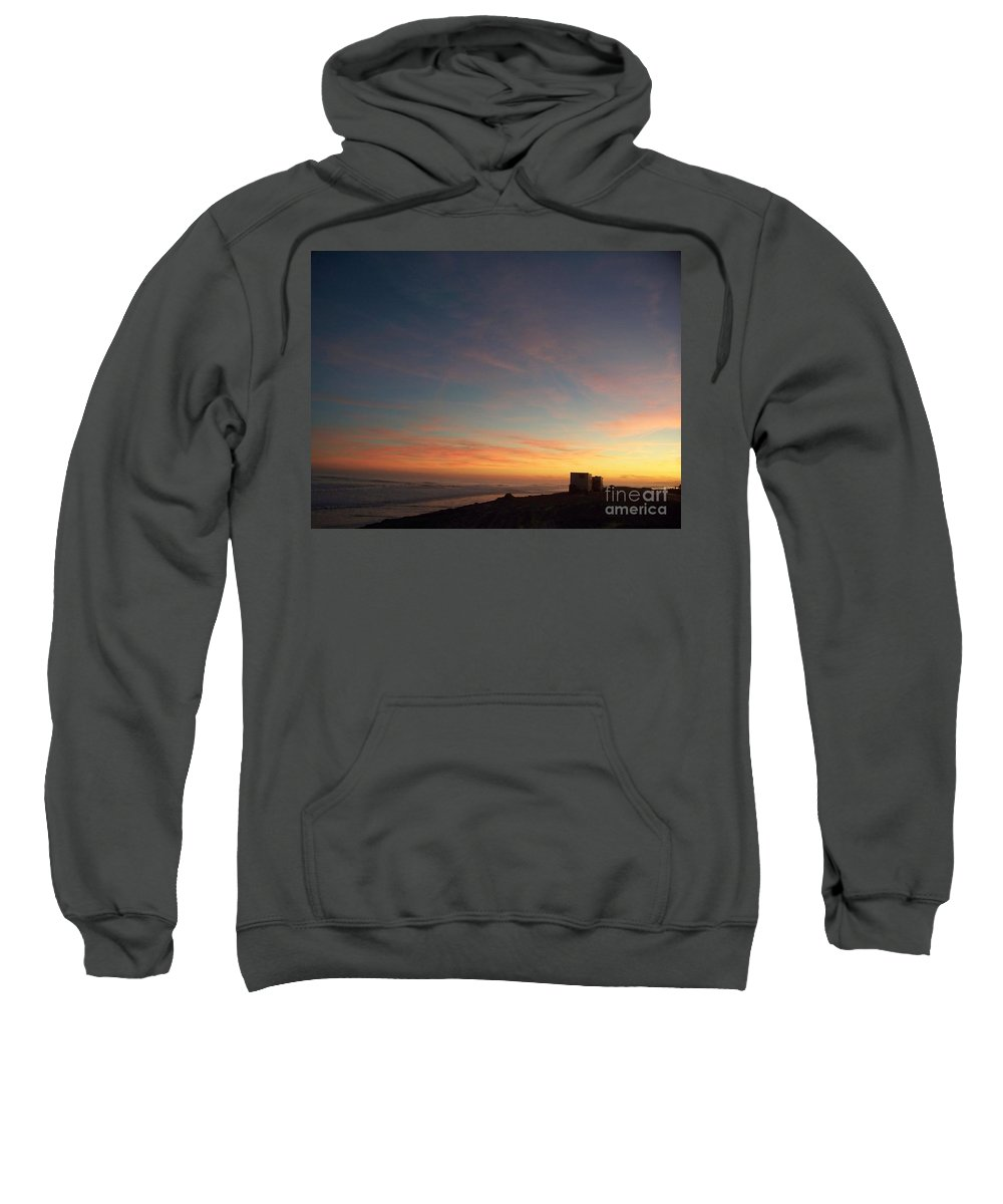 Jersey Shore Sweatshirt featuring the photograph Setting Sun Over The Dunes by Eric Schiabor