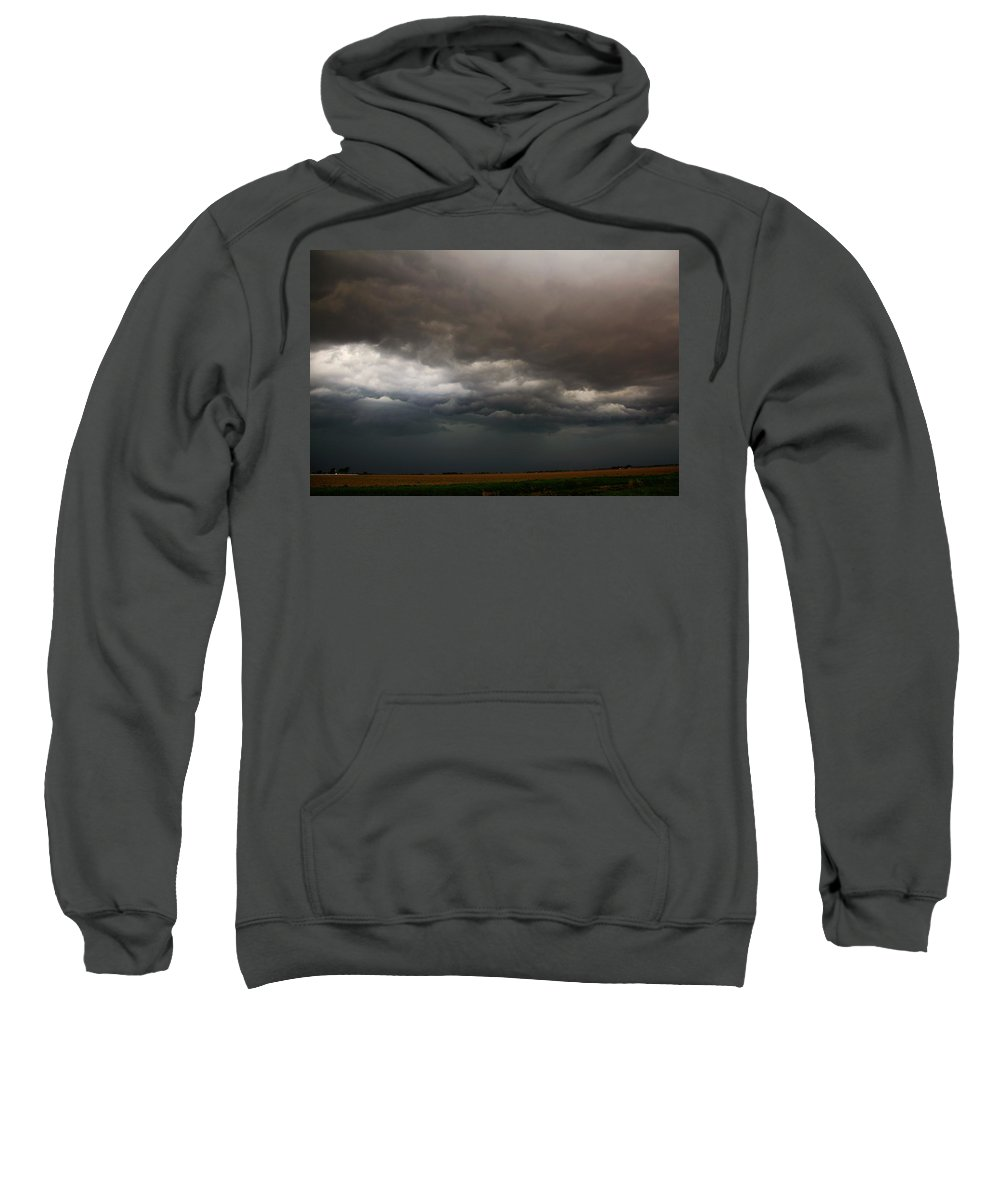 Stormscape Sweatshirt featuring the photograph Severe Storms Over South Central Nebraska by NebraskaSC