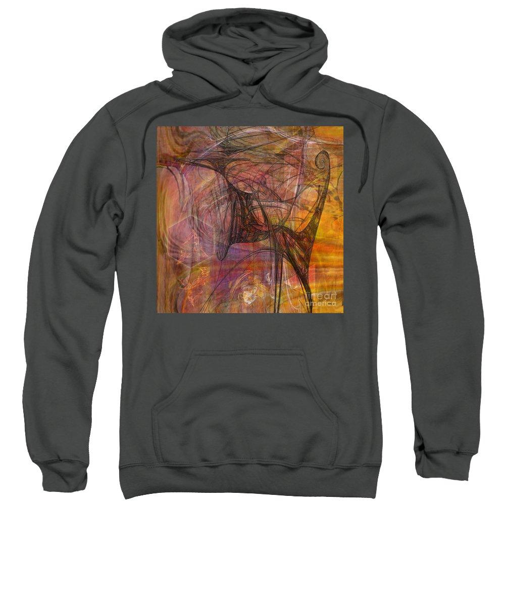 Dragon Sweatshirt featuring the digital art Shadow Dragon - Square Version by John Beck