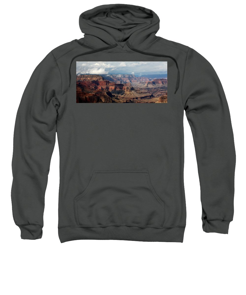 Grand Canyon Sweatshirt featuring the photograph Shadow Races by Joe Kozlowski