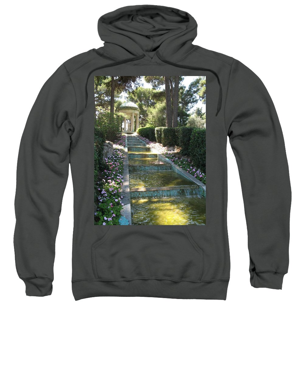 Villa Sweatshirt featuring the photograph Shady Pavilion by Christiane Schulze Art And Photography
