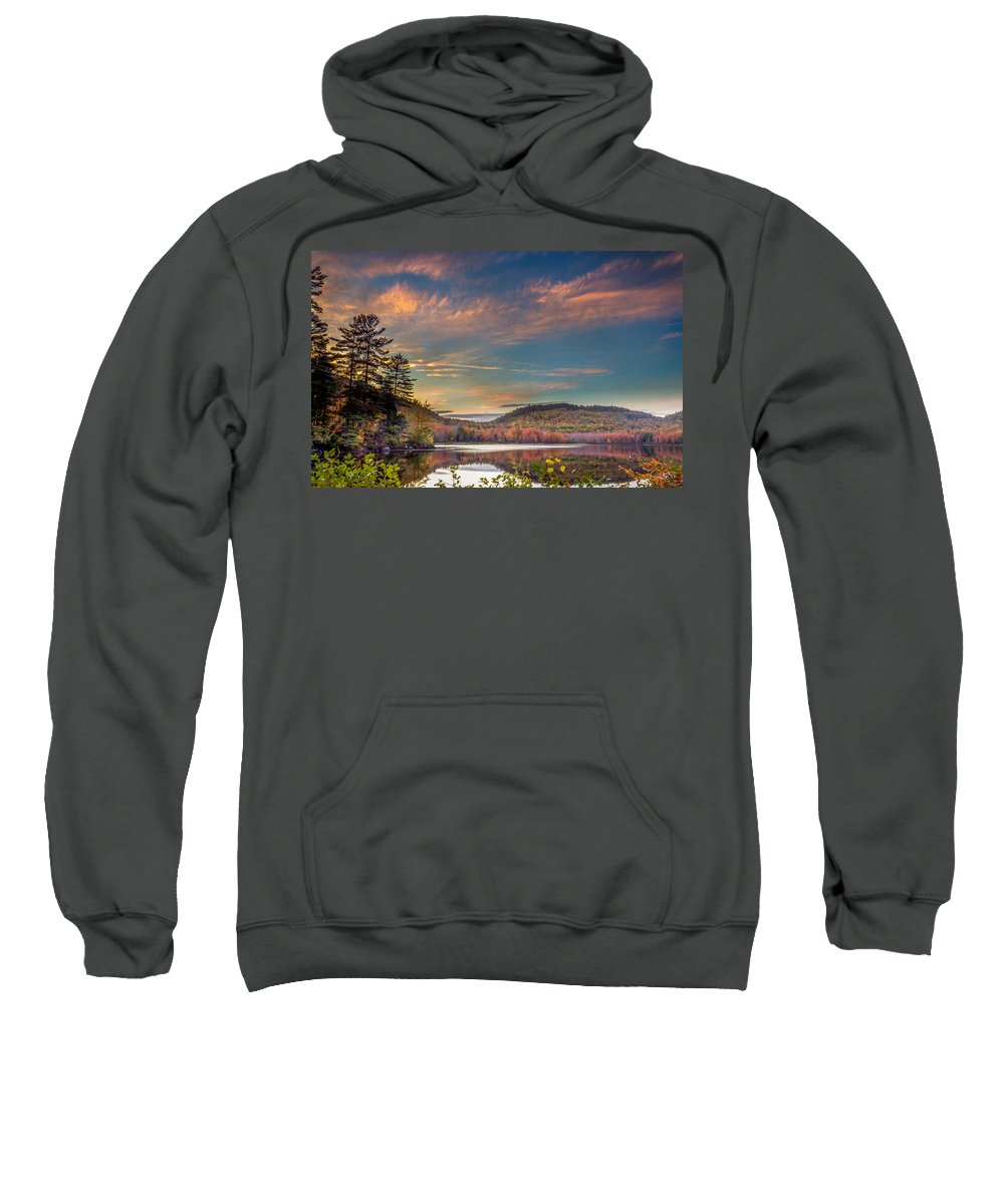Sweatshirt featuring the photograph Shagg Pond Me by Dave Simmer