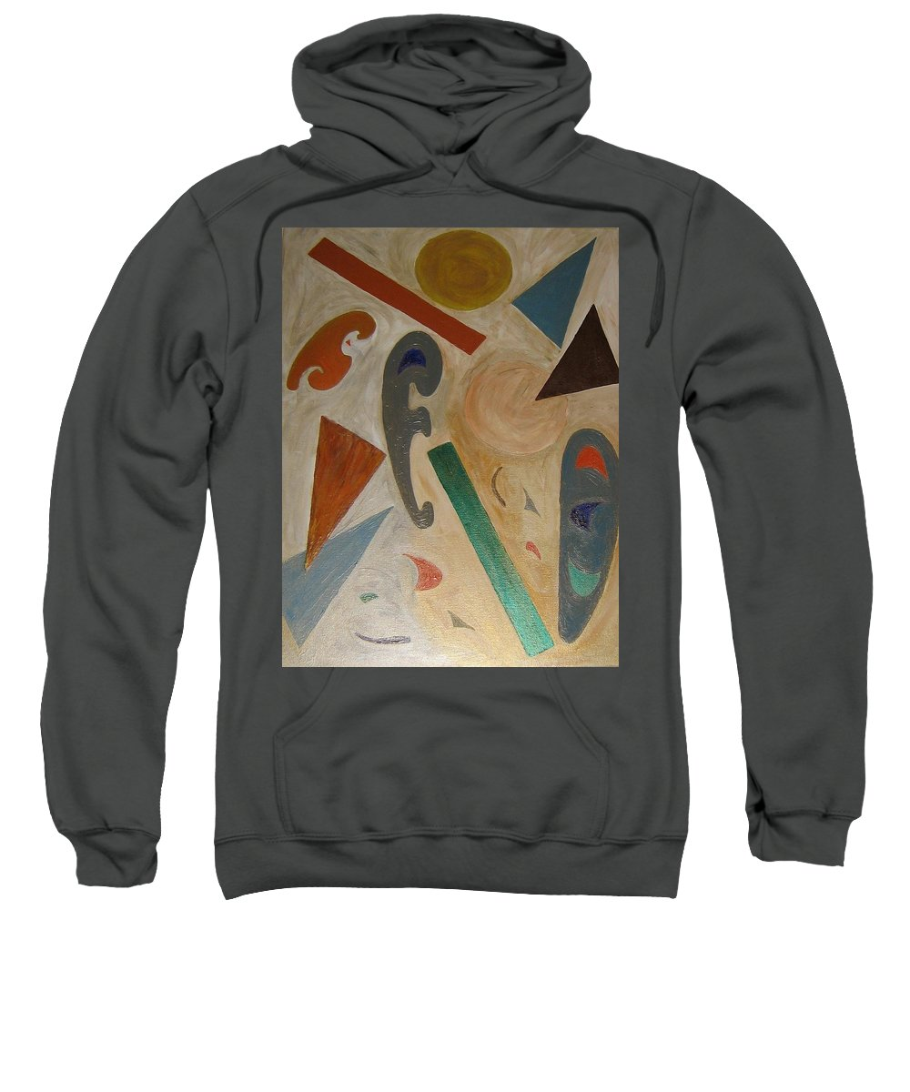 Shapes Sweatshirt featuring the painting Shapes by Barbara Yearty
