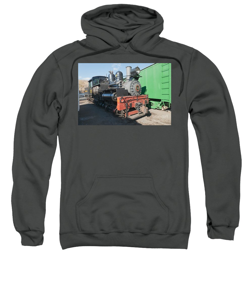 Colorado Sweatshirt featuring the photograph Shay Engine 12 In The Colorado Railroad Museum by Fred Stearns