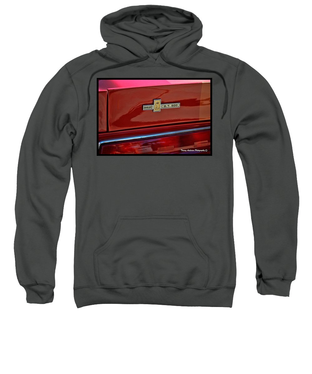 Ford Sweatshirt featuring the photograph Shelby Gt 500 Mustang 4 by Tommy Anderson