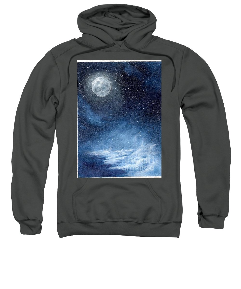 Cosmos Sweatshirt featuring the painting Shimmer by Murphy Elliott