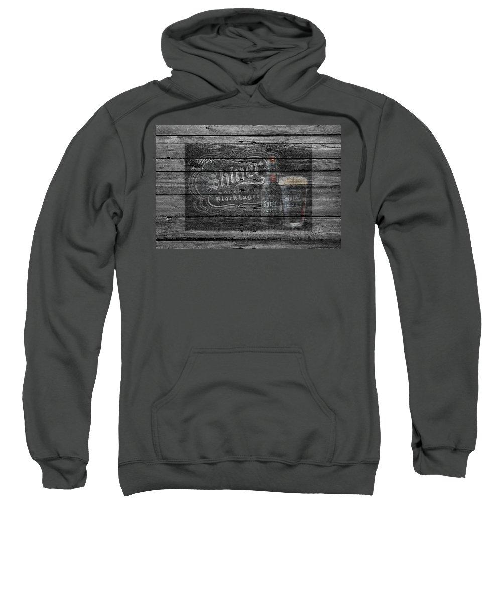 Shiner Black Lager Sweatshirt featuring the photograph Shiner Black Lager by Joe Hamilton