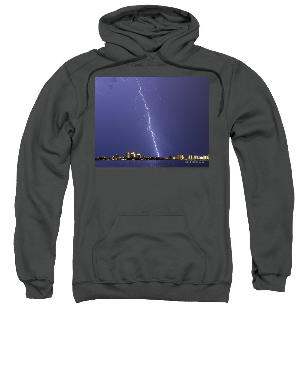 Bolt Sweatshirt featuring the photograph Shocking Sand Key by Stephen Whalen