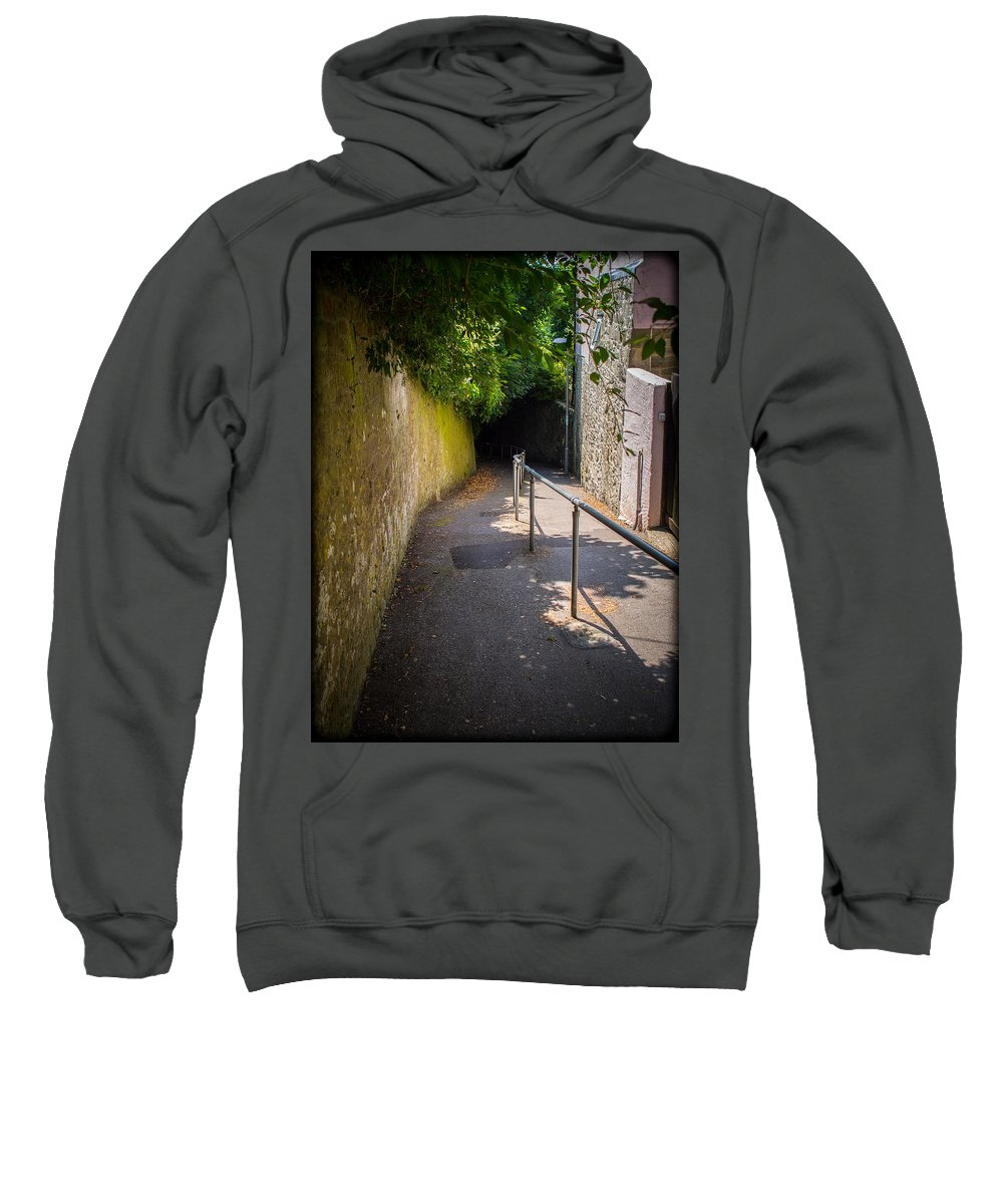 Canvas Sweatshirt featuring the photograph Shooters Lane Shaftesbury by Mark Llewellyn