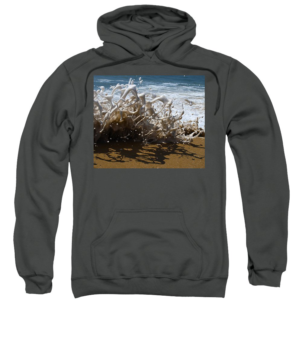 Surf Sweatshirt featuring the photograph Shorebreak - The Wedge by Joe Schofield