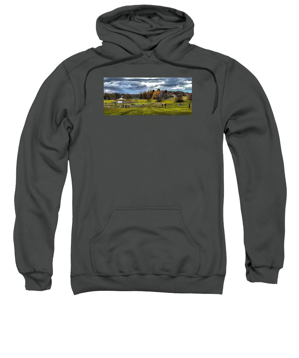 Age Of Steam Sweatshirt featuring the photograph Showground Steam Carousel by John Lynch