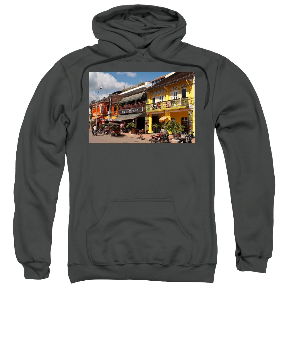 Cambodia Sweatshirt featuring the photograph Siem Reap 02 by Rick Piper Photography