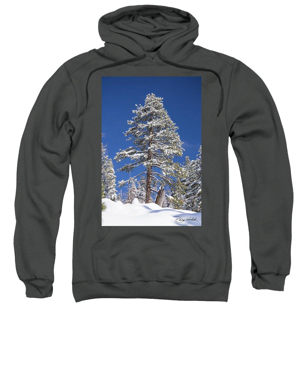 Sierra Nevada Mountains Sweatshirt featuring the photograph Sierra Snow by Doug Holck