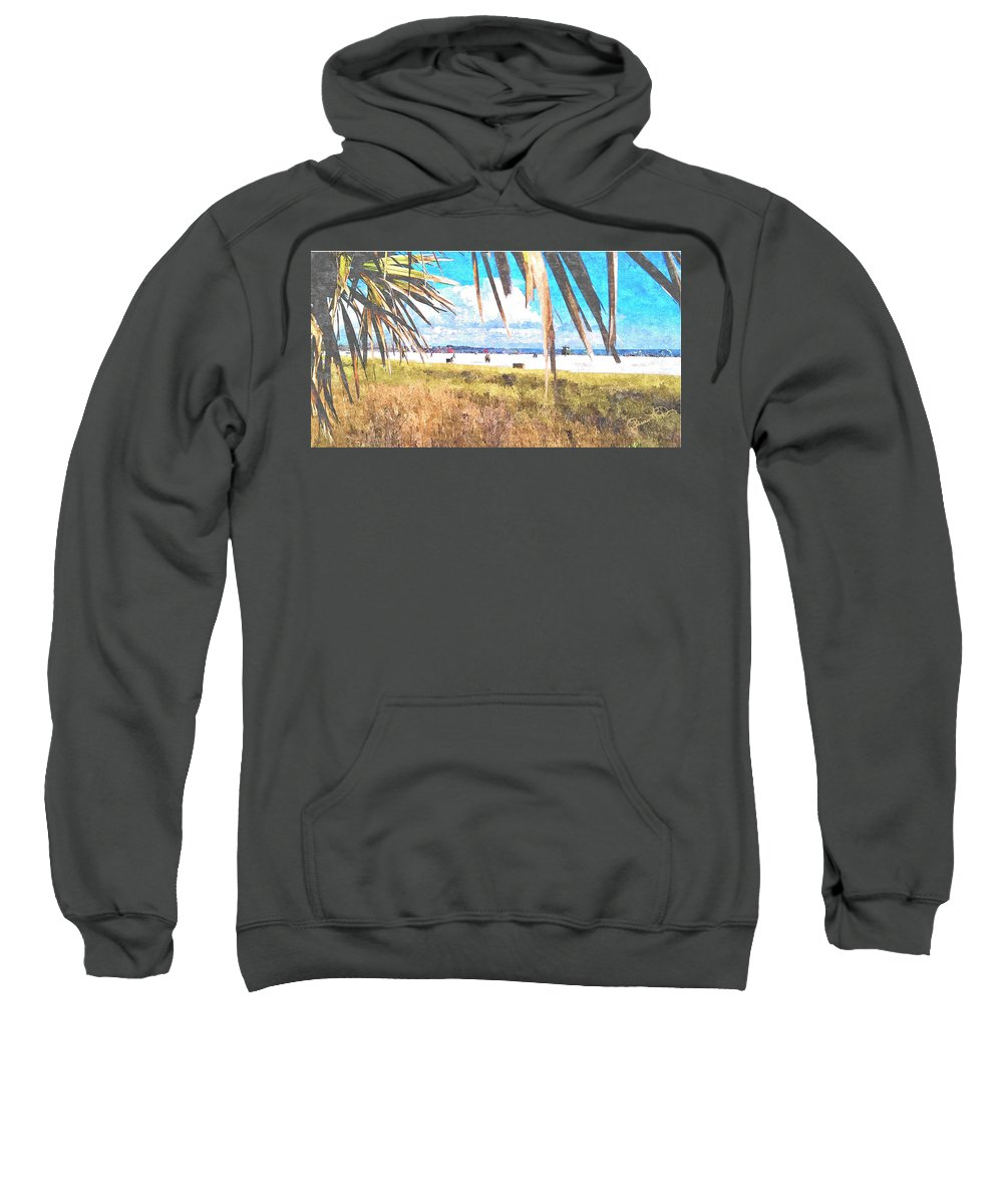 siesta Key In Fall Sweatshirt featuring the photograph Siesta Key In Fall by Susan Molnar