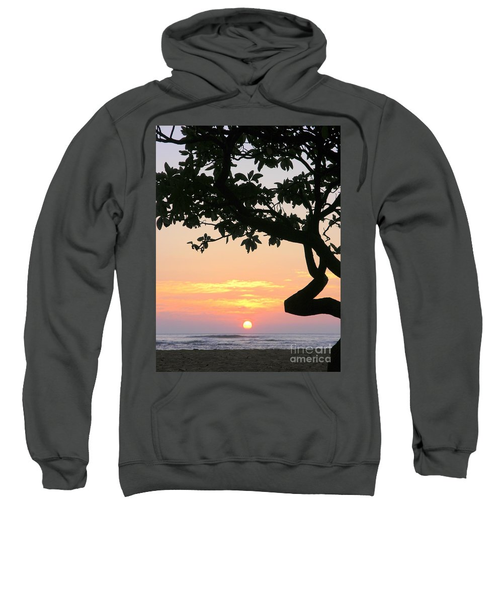 Sunrise Sweatshirt featuring the photograph Silhouette Sunrise by Mary Deal