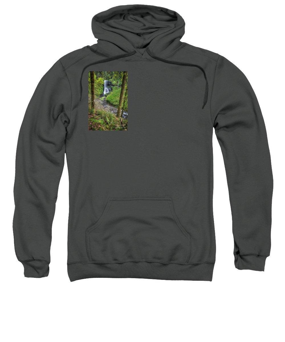 Silver Falls Sweatshirt featuring the photograph Silver Falls Oregon by Matt Hoffmann