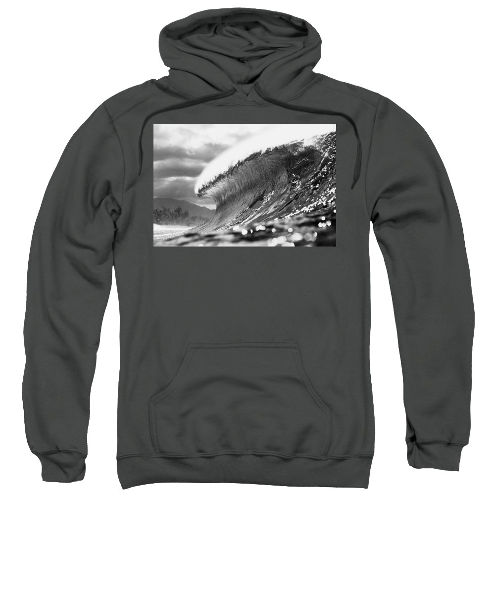 Powerful Sweatshirt featuring the photograph Silver Lining by Sean Davey