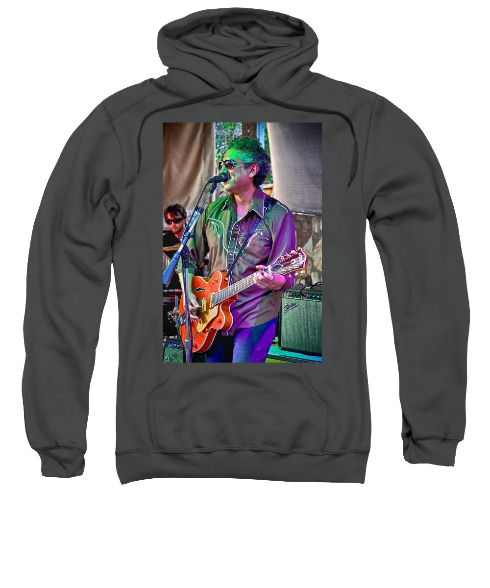 Musician Sweatshirt featuring the photograph Singing In Austin by Kristina Deane