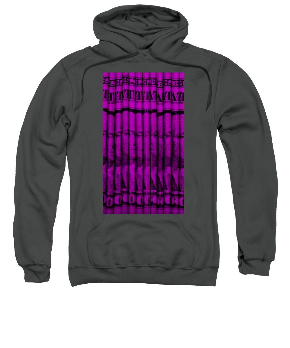 Money Sweatshirt featuring the photograph Singles In Purple by Rob Hans