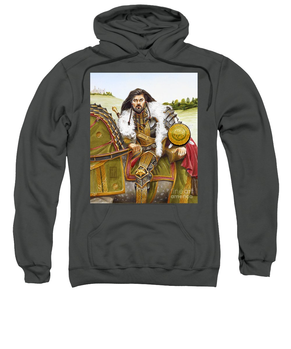 Fine Art Sweatshirt featuring the painting Sir Marhaus by Melissa A Benson