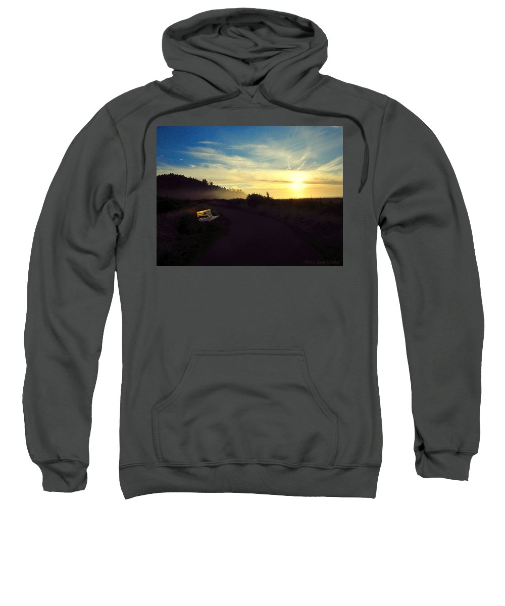 Sunset Sweatshirt featuring the photograph sit With Me And Watch The Sunset by Joyce Dickens