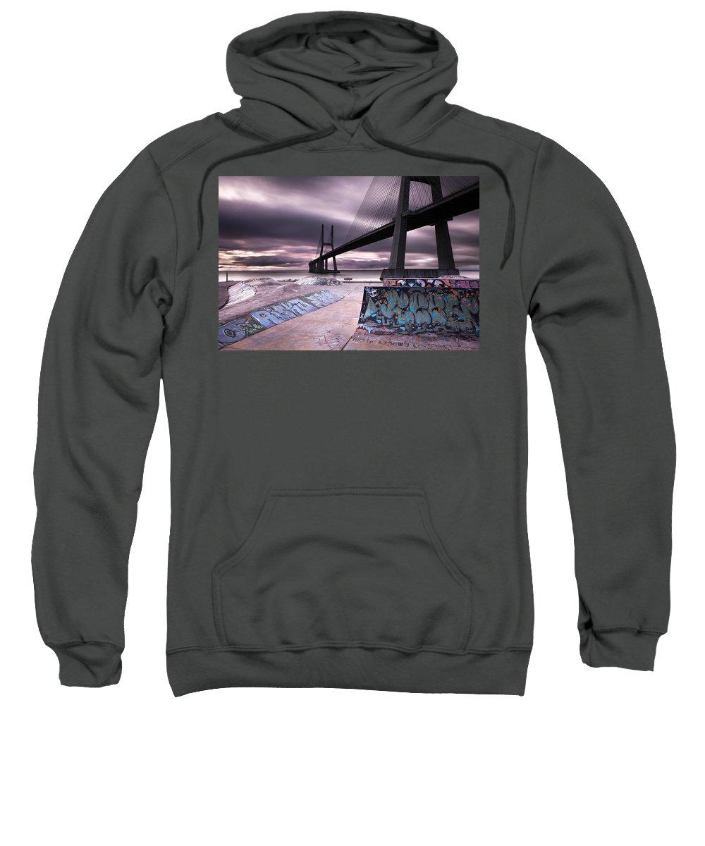 Lisbon Sweatshirt featuring the photograph Skate Park by Jorge Maia