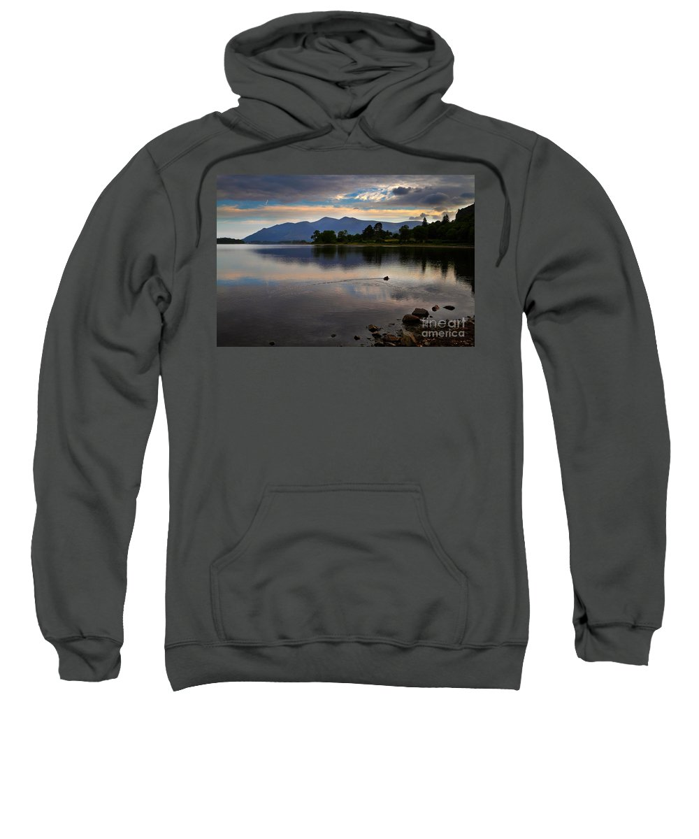 Travel Sweatshirt featuring the photograph Skiddaw And Derwent Water At Dawn by Louise Heusinkveld