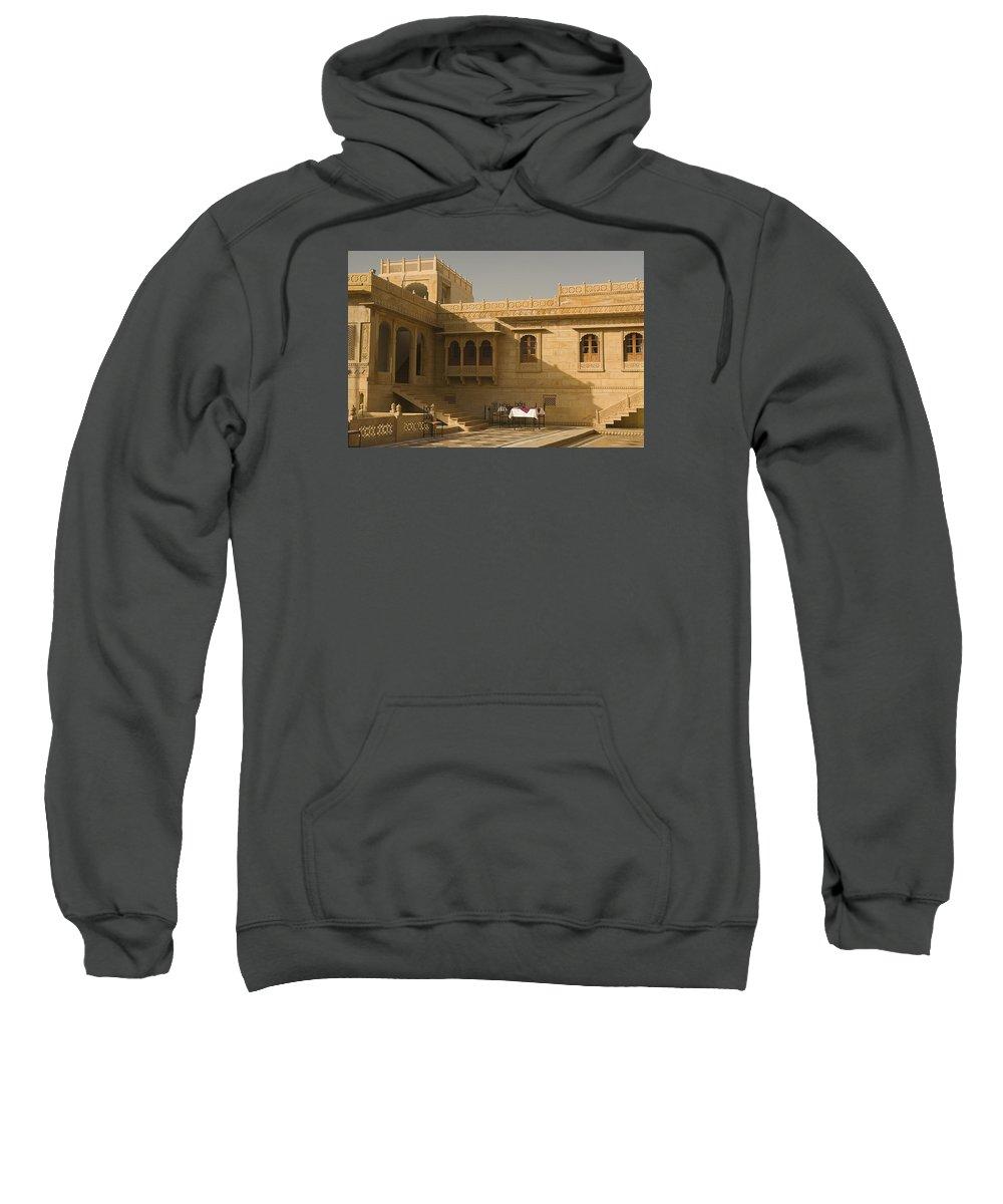 Palatial Sweatshirt featuring the photograph Skn 1322 Palatial Architecture by Sunil Kapadia