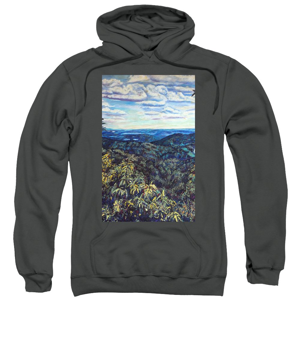 Landscape Sweatshirt featuring the painting Smartview Blue Ridge Parkway by Kendall Kessler