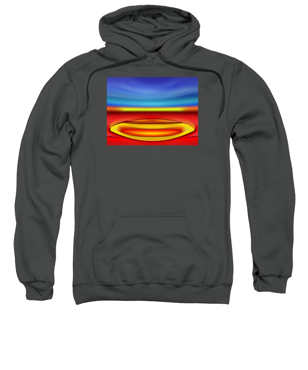 Island Sweatshirt featuring the digital art Smilin' Island by Del Gaizo