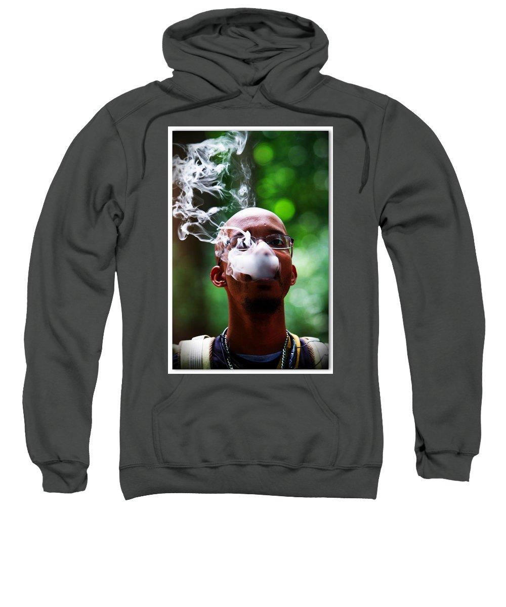 Smoker Sweatshirt featuring the photograph Smokin Puffs by Alice Gipson