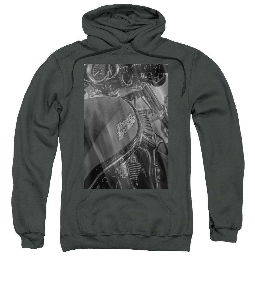Bike Sweatshirt featuring the photograph Smoking Hot Hawg by Judy Hall-Folde