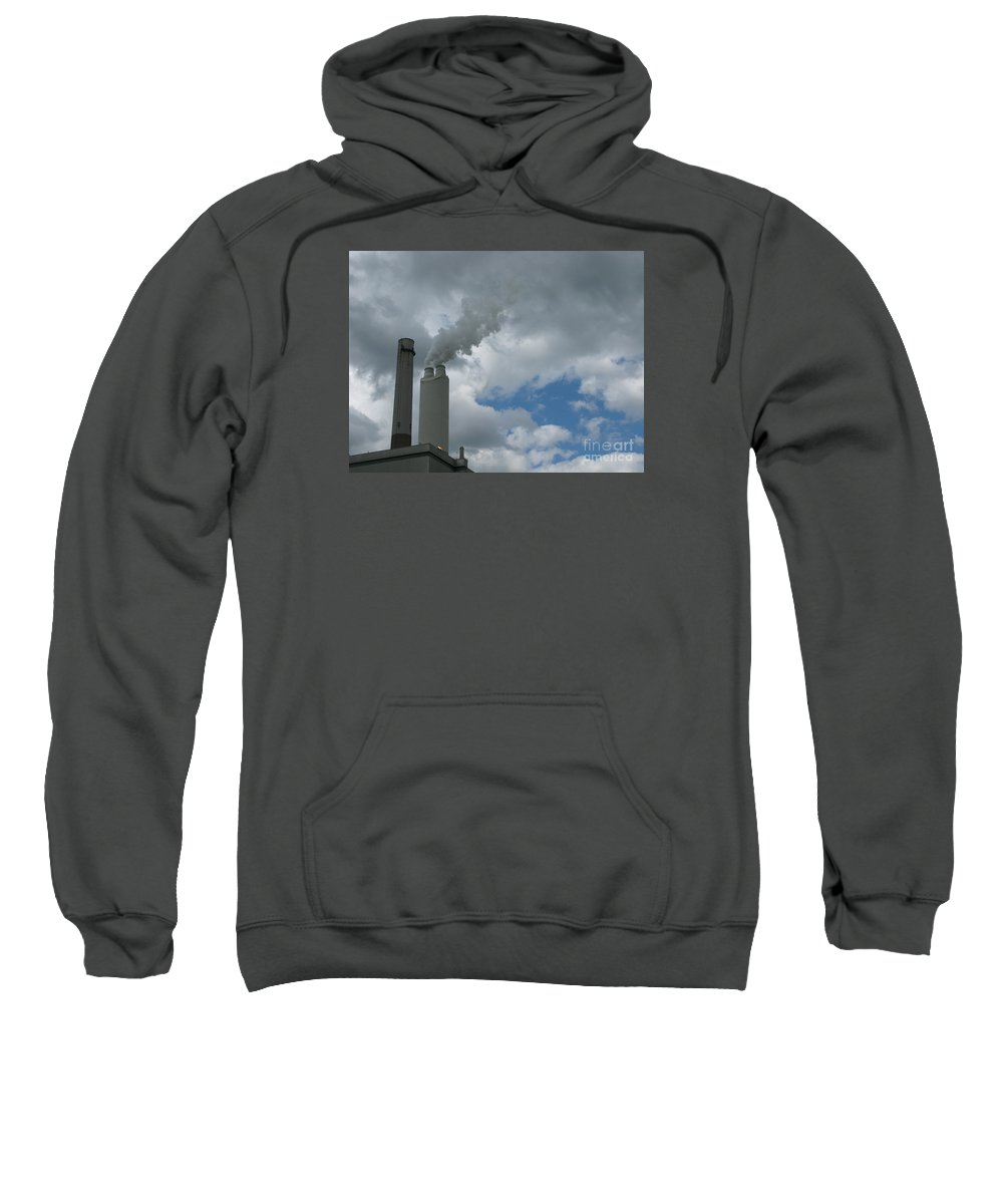 Smoke Stack Sweatshirt featuring the photograph Smoking Stack by Ann Horn