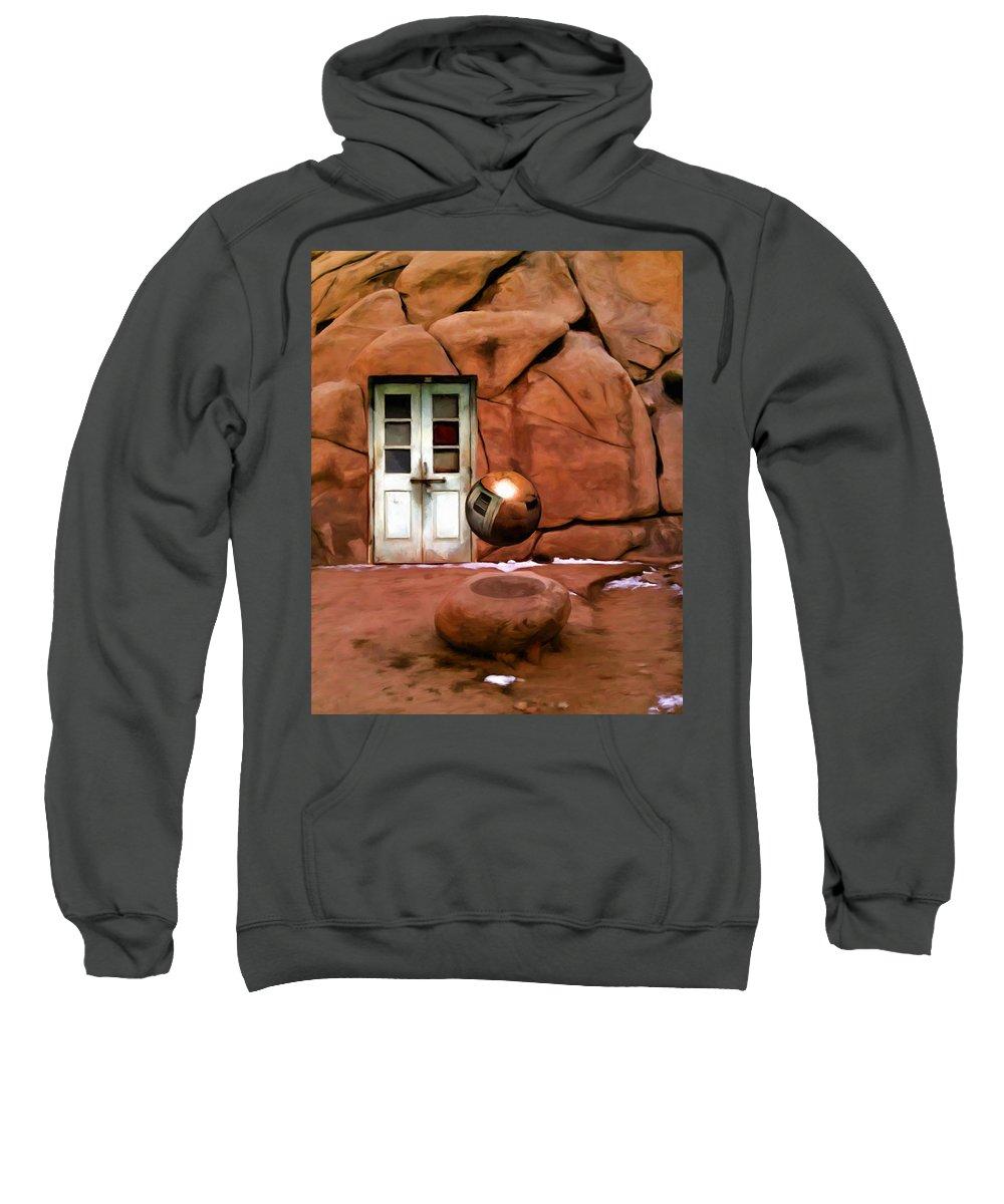 Joshua Tree Sweatshirt featuring the painting Snow In Joshua Tree by Snake Jagger