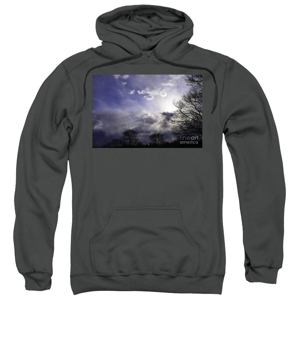 Tree Sweatshirt featuring the photograph Snow Is In The Air by Joe Geraci