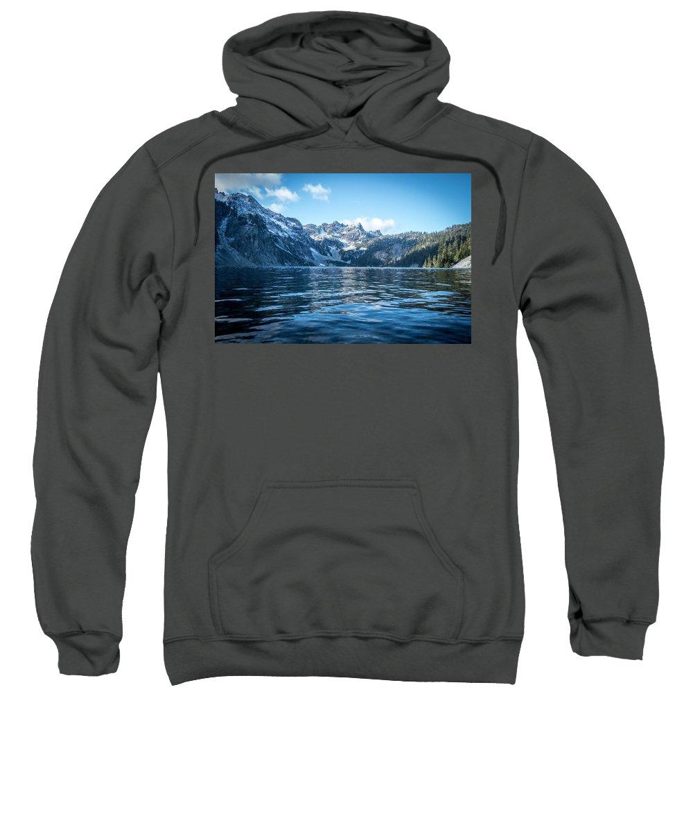 Alpine Lakes Wilderness Sweatshirt featuring the photograph Snow Lake by Ryan McGinnis