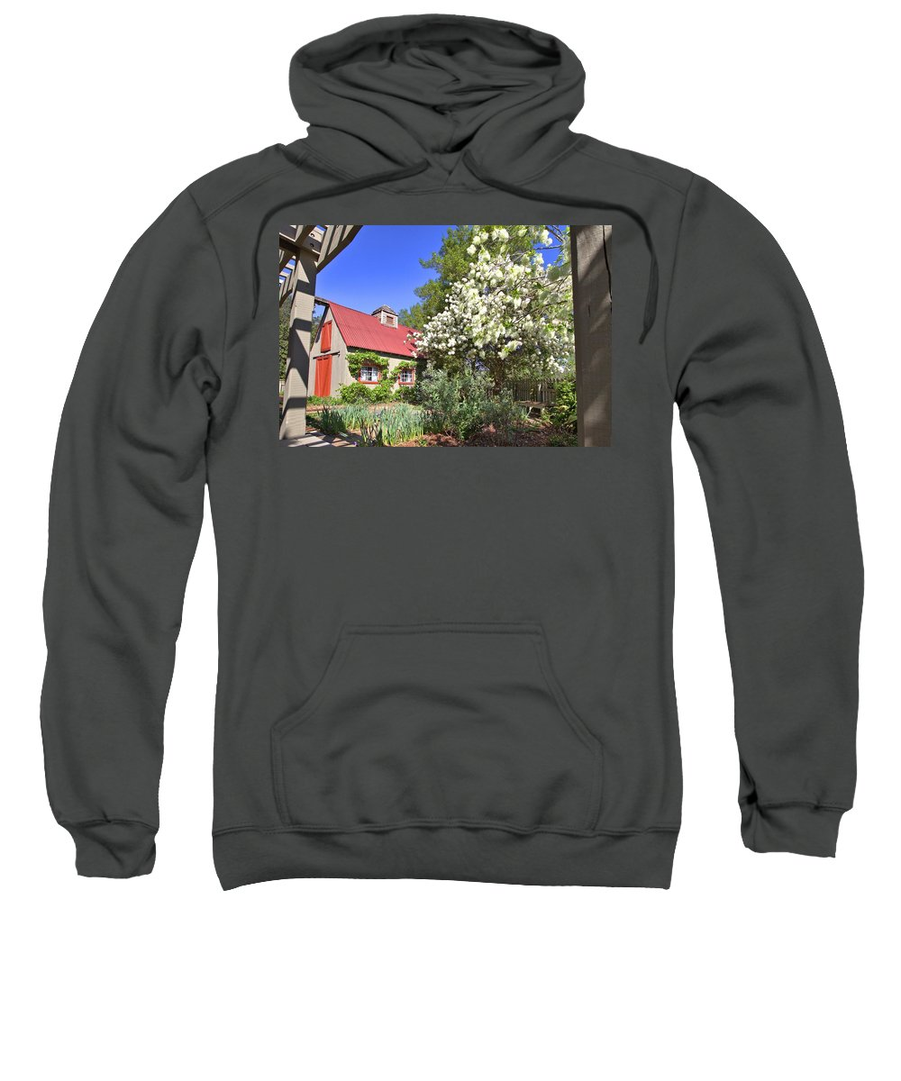 8293 Sweatshirt featuring the photograph Snowball Tree In The Garden by Gordon Elwell