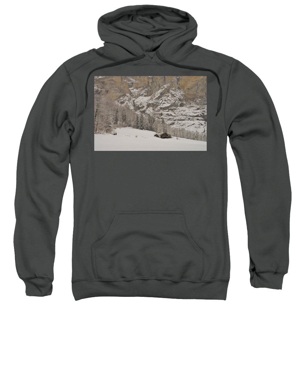 Snowdrift Sweatshirt featuring the photograph Snowy by Felicia Tica