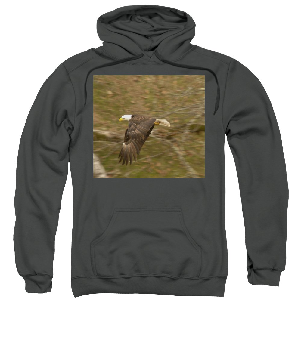 Eagles Sweatshirt featuring the photograph Soaring Over by Jeff Swan