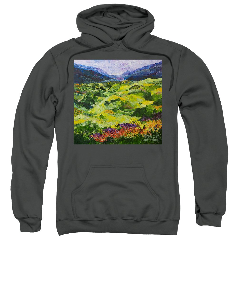 Landscape Sweatshirt featuring the painting Soft Grass by Allan P Friedlander
