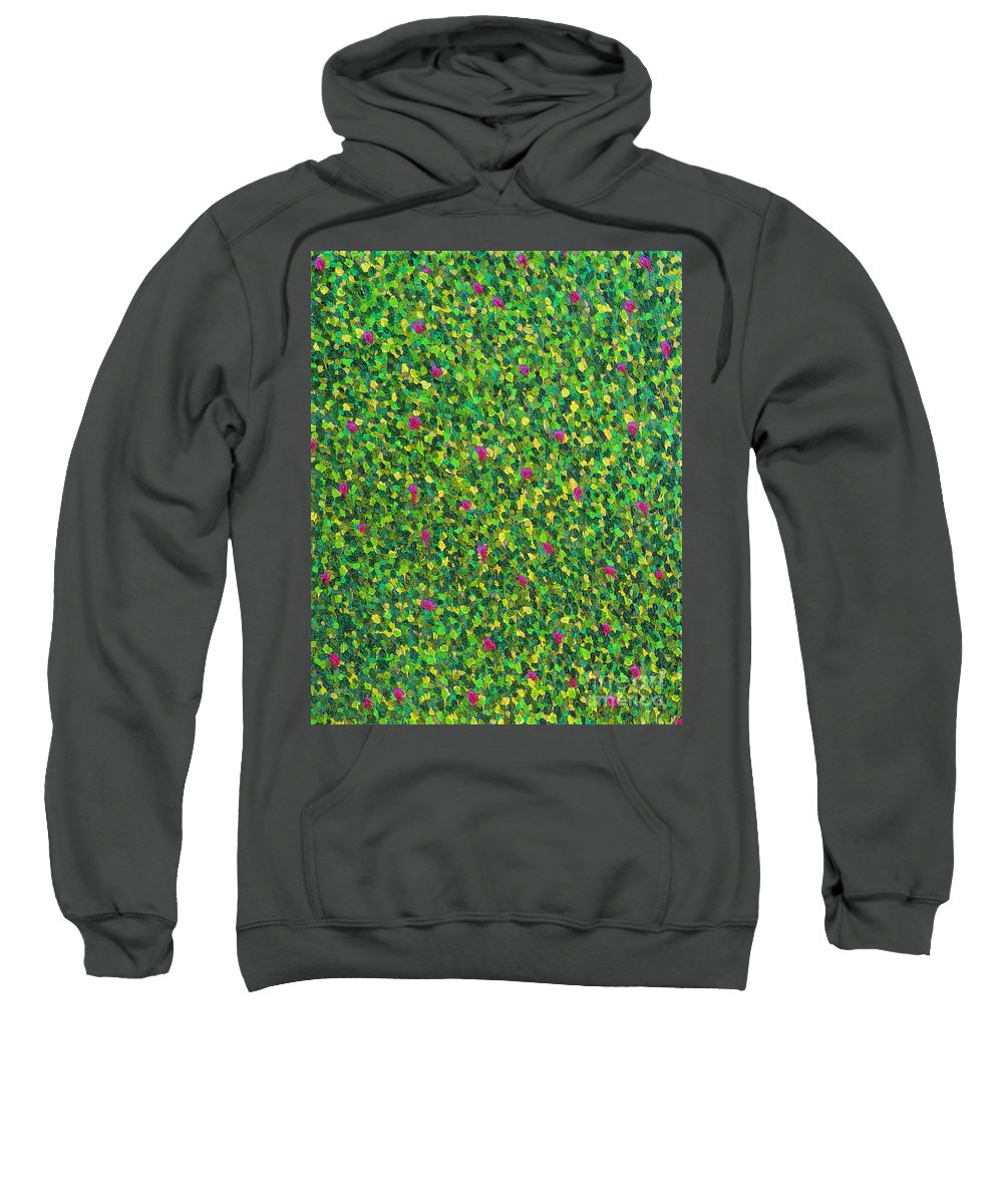 Abstract Sweatshirt featuring the painting Soft Green With Pink by Dean Triolo