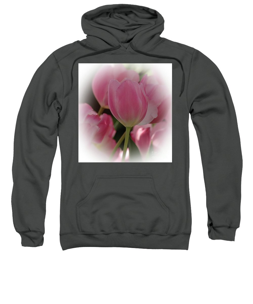 Tulip Sweatshirt featuring the photograph Soft Pink by Kathleen Struckle