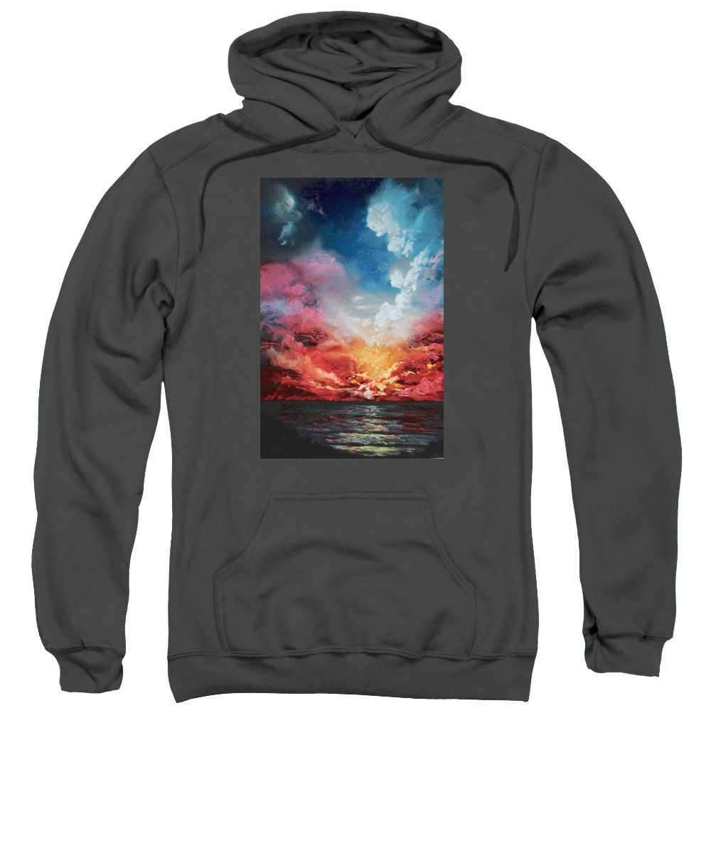 Sunset Sweatshirt featuring the painting Solar Flare by Vincent Mancuso