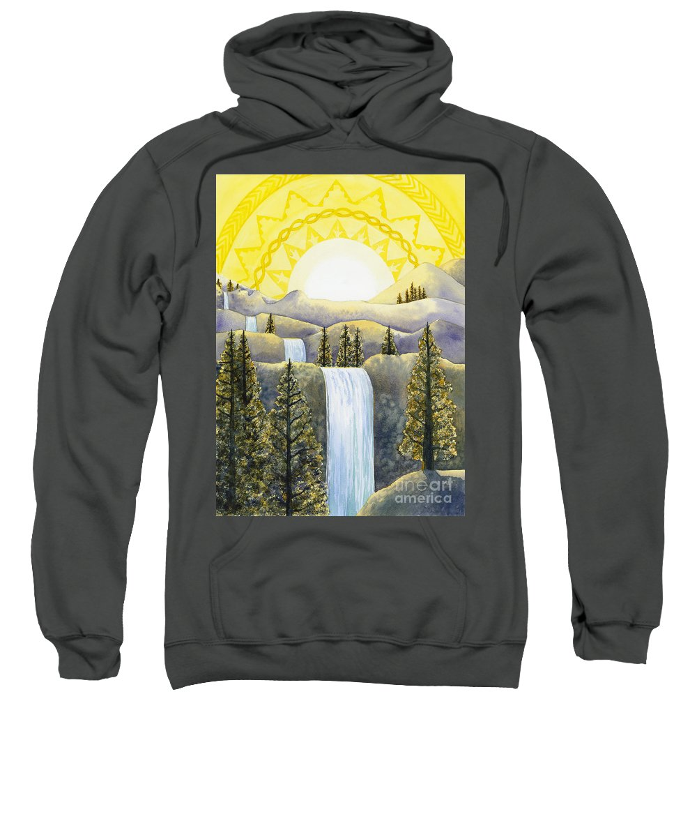 Power Sweatshirt featuring the painting Solar Plexus Chakra by Catherine G McElroy
