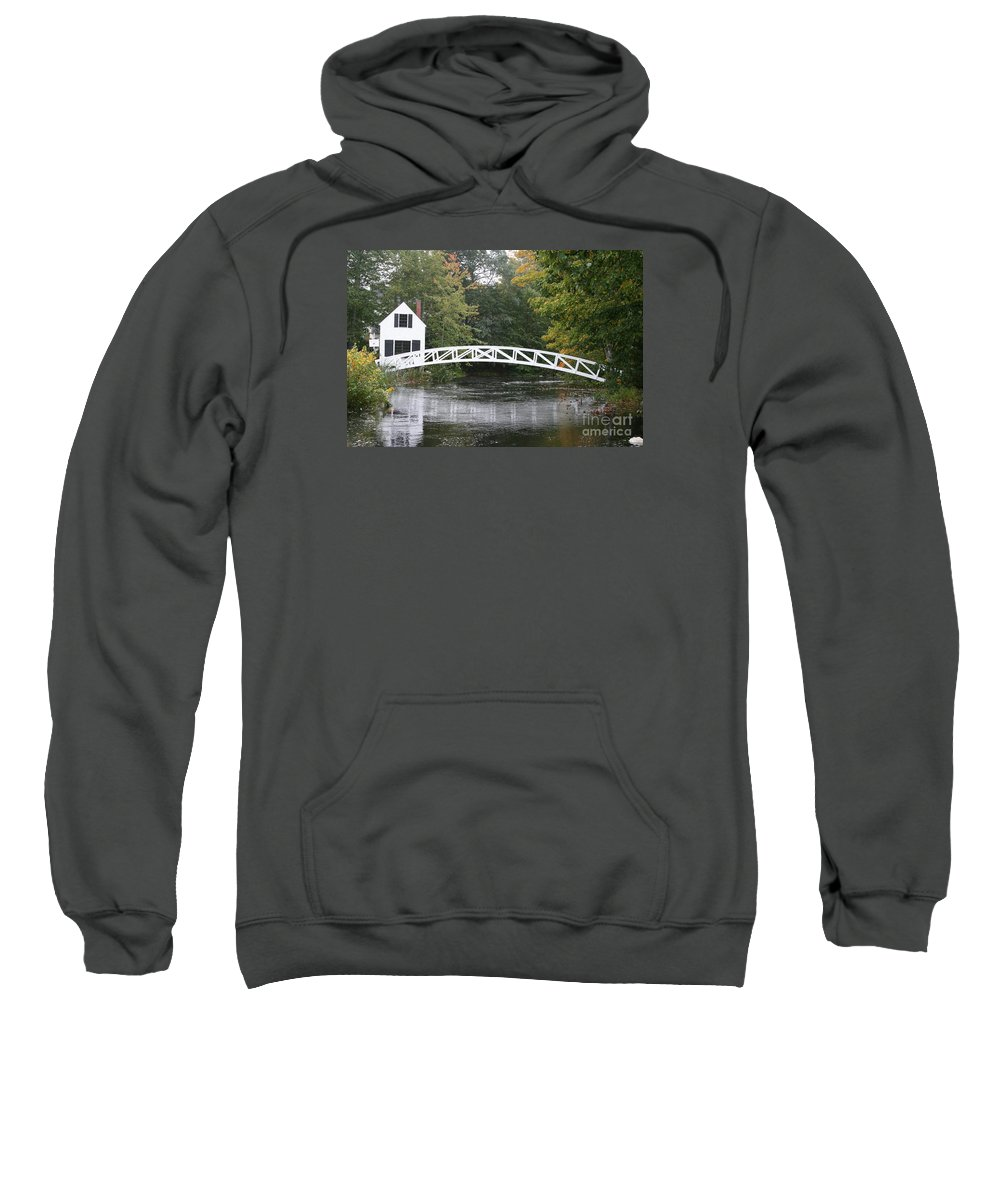 Bridge Sweatshirt featuring the photograph Somesville - Mount Dessert Island by Christiane Schulze Art And Photography