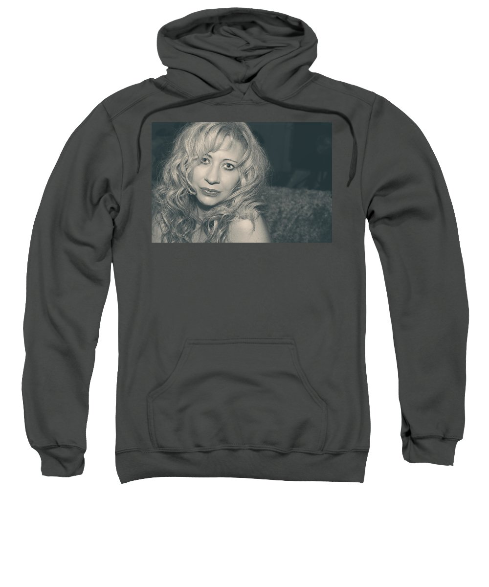 Woman Sweatshirt featuring the photograph Sometimes It Hurts Instead by Laurie Search