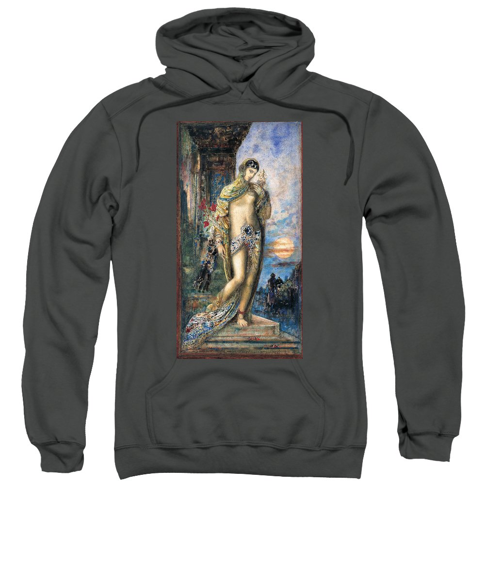Gustave Moreau Sweatshirt featuring the painting Song Of Songs by Gustave Moreau
