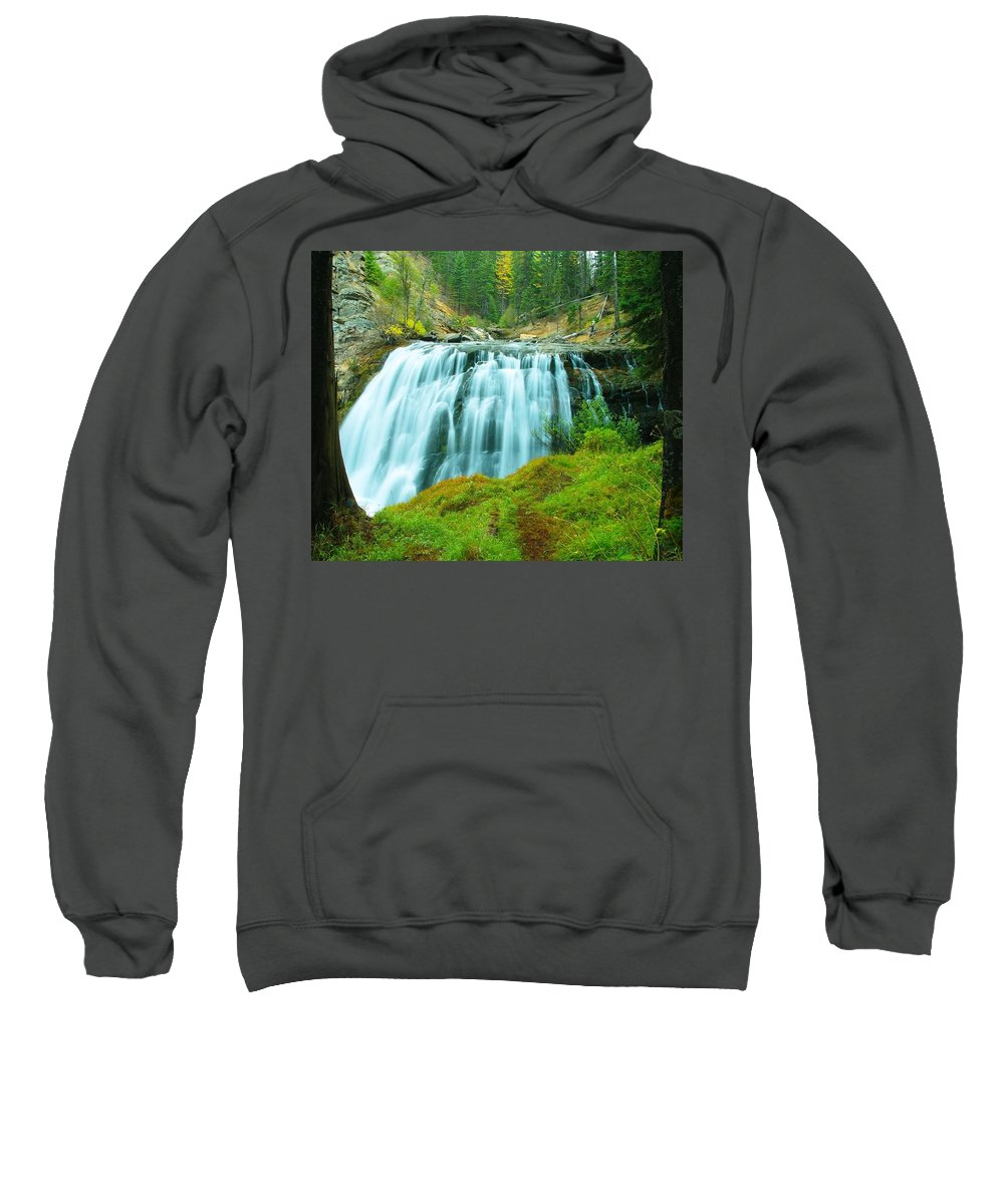 Waterfall Sweatshirt featuring the photograph South Fork Falls by Jeff Swan